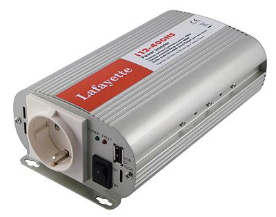 lafi12400ns lafayette inversor onda senoidal pura 12 volt - 220 volt. 600 wats