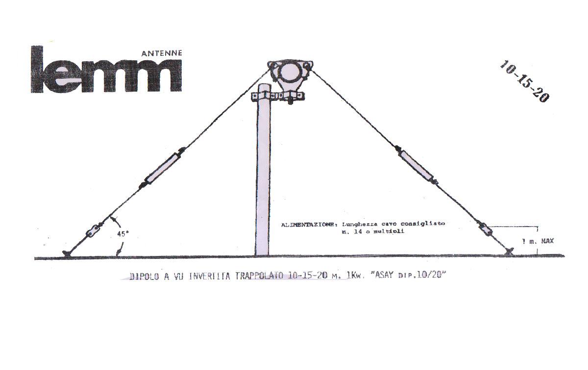 LEMM AT47 Antena Dipolo bandas 10-15-20 metros 28 Mhz, 21 Mhz,14 Mhz