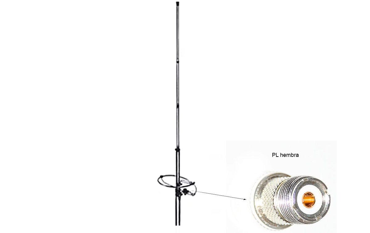 lemm-ringo-50 antena de base 49 - 53 mhz de aluminio1-2 onda.