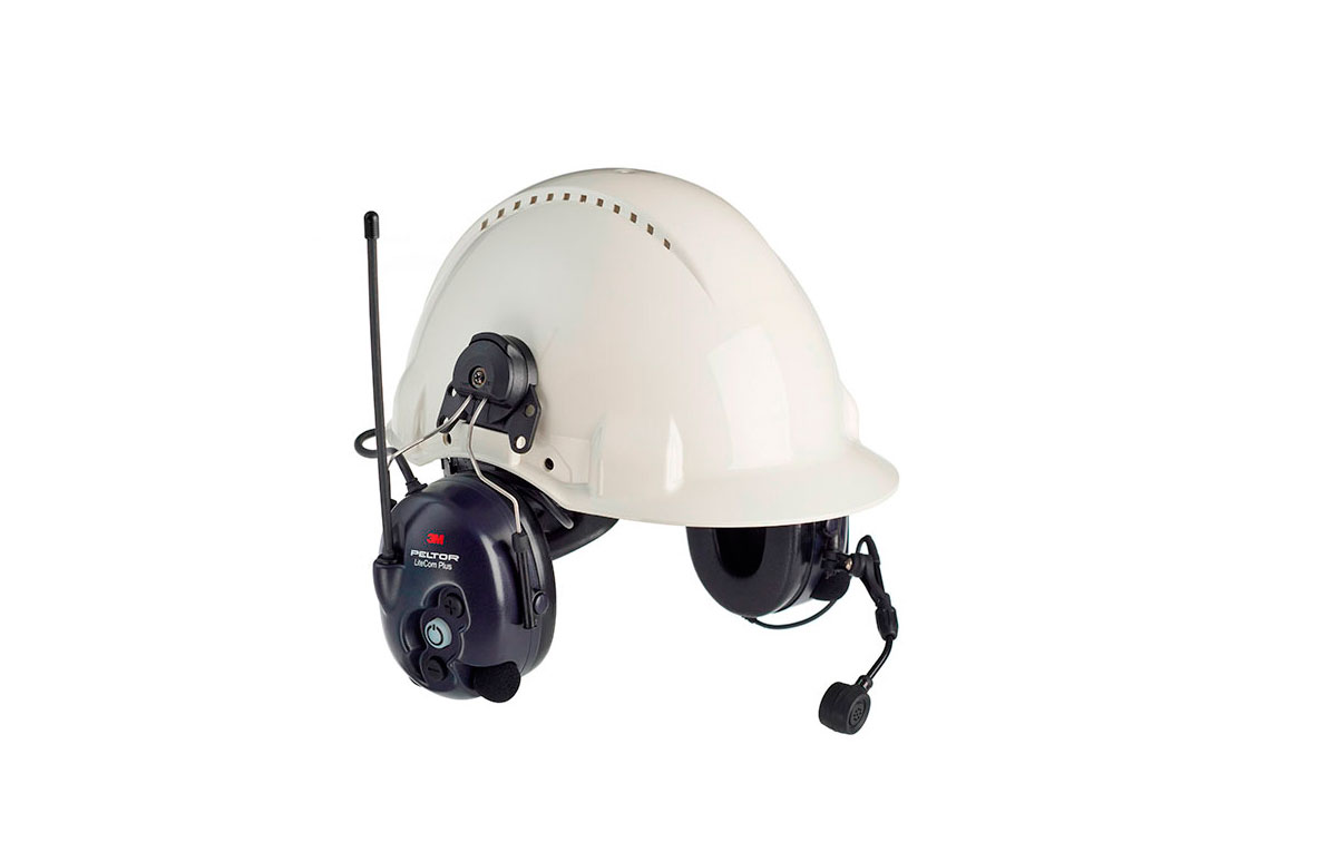 PELTOR MT7H7P3EA4410EU -PLUS SUJECCION CASCO Protector auditivo con Walkie Talkie PMR446 para comuni
