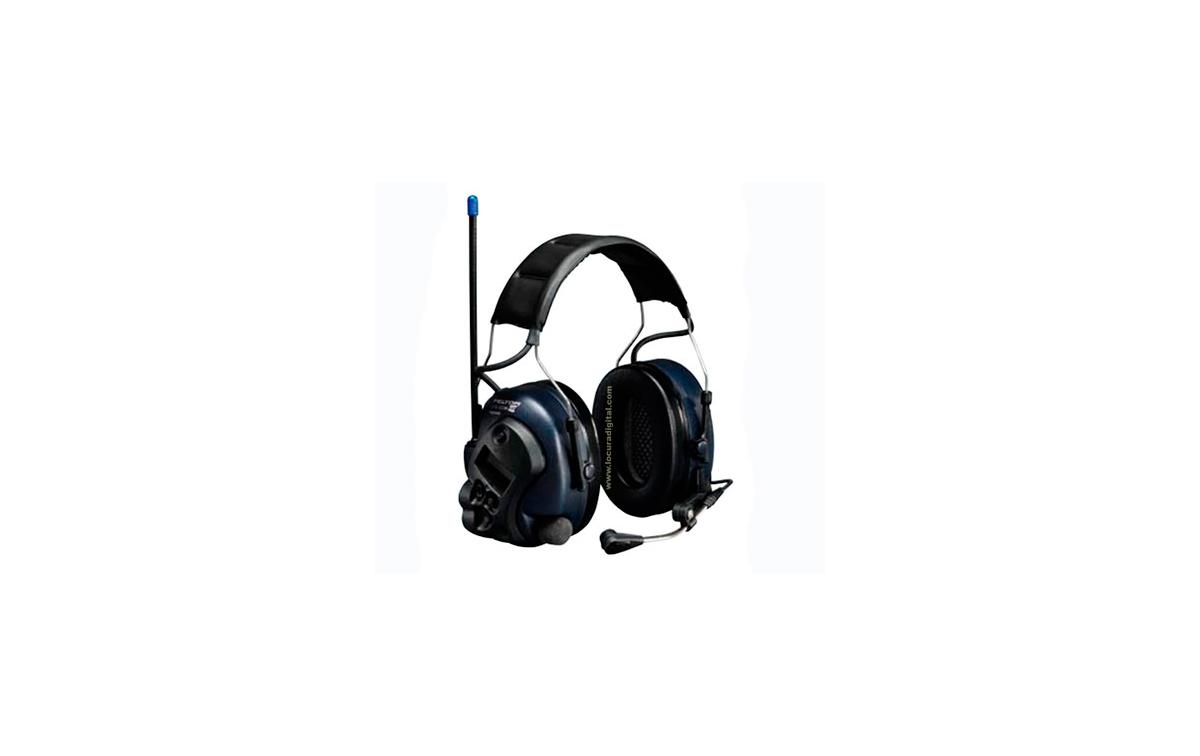 PELTOR DIADEMA Protector auditivo con Walkie Talkie PMR446 para comunicaciones en ambientes muy ruid