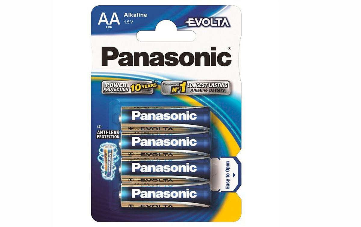 LR6EGE4BP PANASONIC EVOLTA pack 4 pilas Alkalinas. AA (R6)