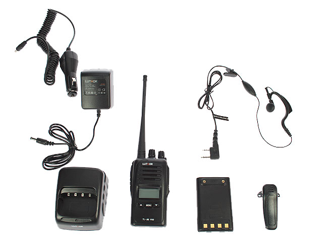 LUTHOR TL88 KIT1 PROFESSIONAL PMR 446 HANDHELD FOR FREE USE WITHOUT LICENSE. Rubber Earphone FOR FREE. NEW MODEL!!!