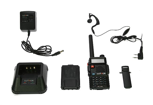 LUTHOR TL22 KIT1 SINGLE BAND VHF 144 MHZ HANDHELD, DUAL DISPLAY, 8 SCRAMBLER. Rubber Earphone FOR FREE!!!