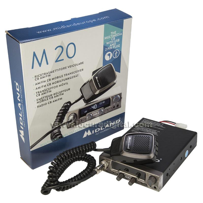 MIDLAND M 20 Emisora de CB 27 AM FM 40 CANALES