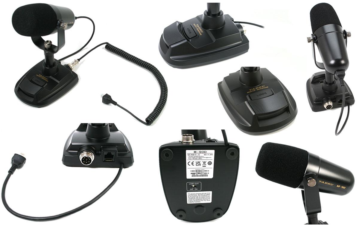 YAESU M90D Microfono de sobremesa Dynamico para tranceptores Yaesu vista de de todos los lados