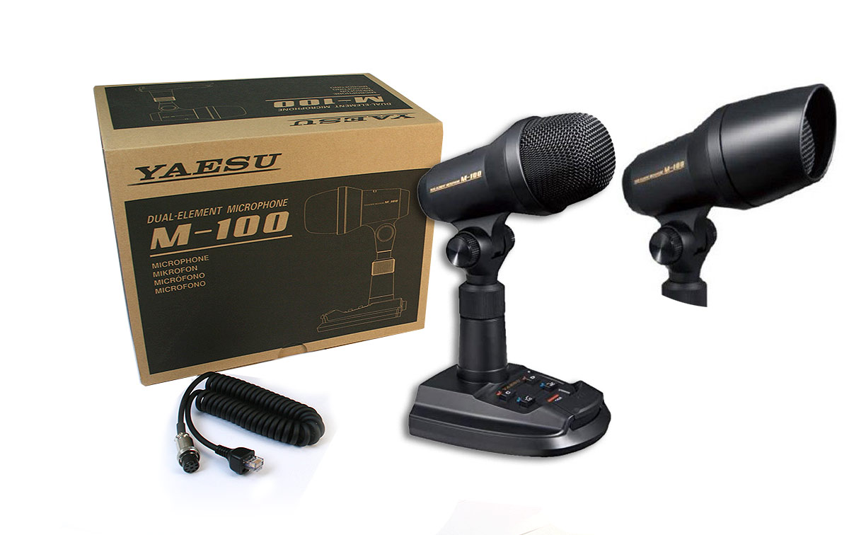 yaesu m-100 micrófono de sobremesa para emisoras yaesu