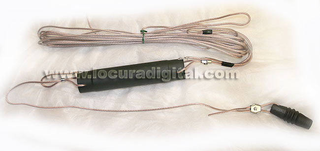 HF Dipole MALCOTT MAD50B5'S 10-15-20-40-80 Meters (total wire length 20 m), 1000 W PEP power
