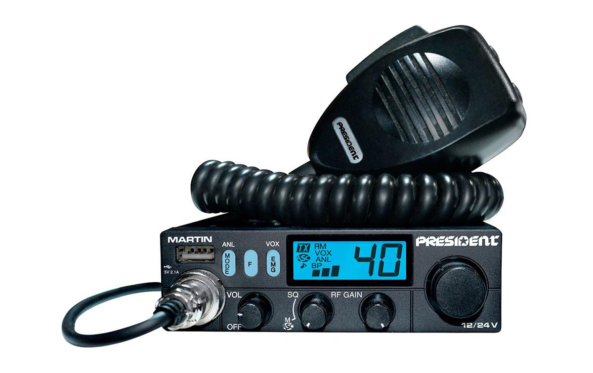 President MARTIN Emisora de 40 canales CB 27 Mhz AM/FM funcionar 12/24