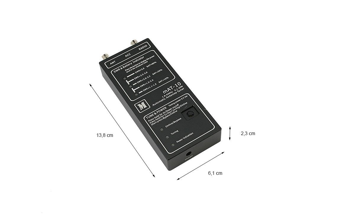 mat-10 sintonizador automático hf 1,8-54 mhz 30 watios yaesu 817/818