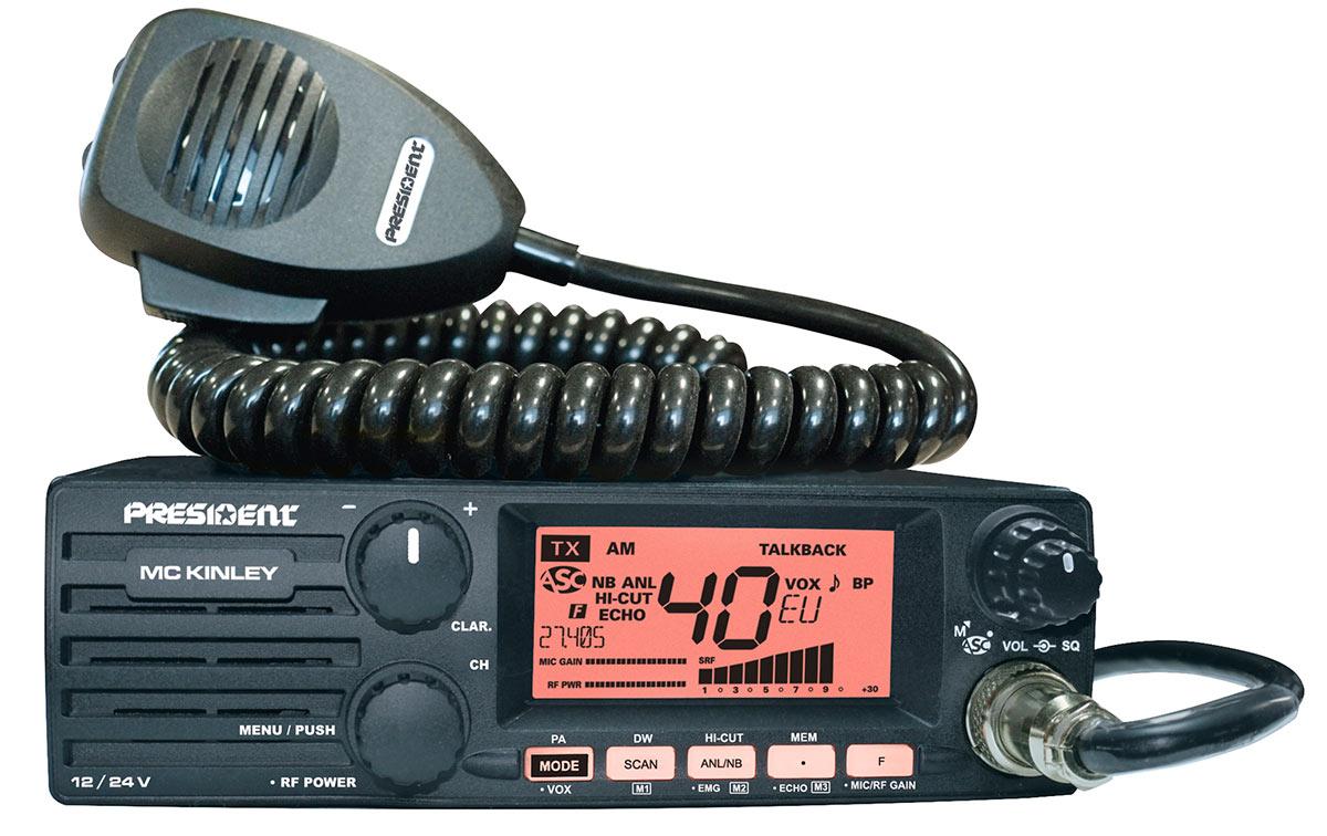 President MC-Kinley Emisora CB 12/24 Classic 40canales AM/FM/LSB/USB