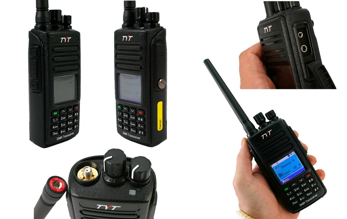 MD390VHF TYT Walkie Profesional DMR-Analógico VHF136-174 Mhz-IP67
