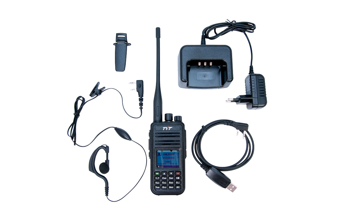 TYT MD-UV380-GPS Walkie Talkie DMR, Doble banda 144/ 430 Mhz   GPS
