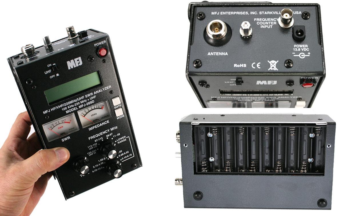 Analizador de antenas con todas las prestaciones del popular MFJ259D   UHF y mucho más