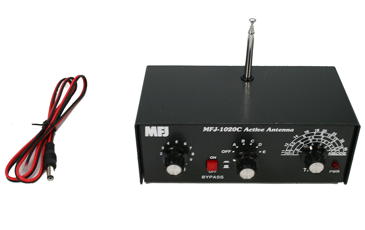 MFJ 1020C Antena Activa para recepción RX de 300 Khz. a 40 Mhz