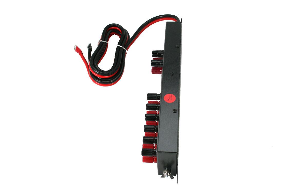 MFJ-1118 Regleta de conexión de alimentación multiple con instrumento