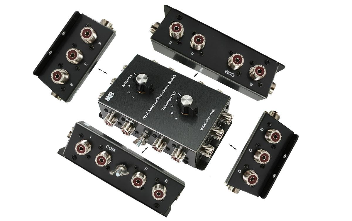 mfj-1700c conmutador para 6 antenas y 6 transceptores