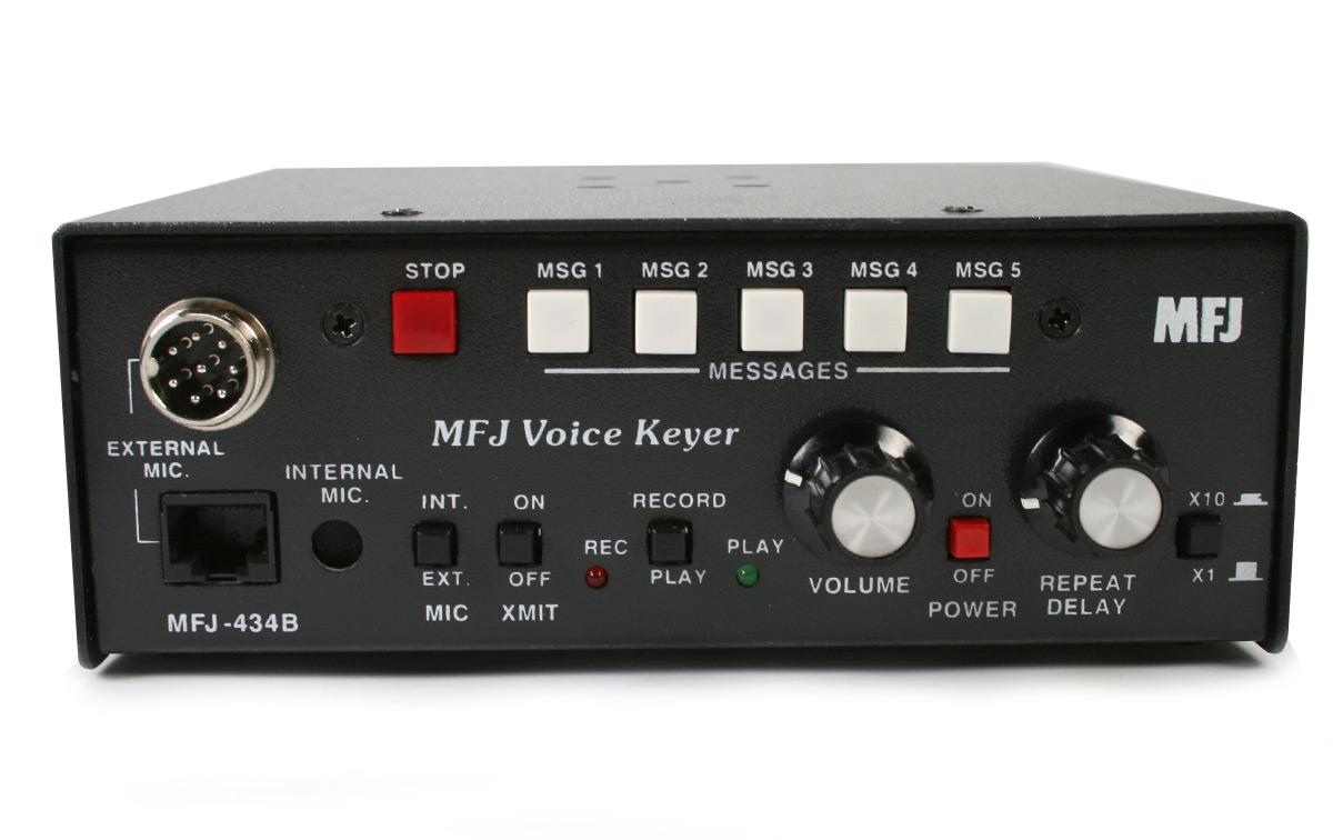 mfj-434-b lector de códigos morse cw con keyer incorporado