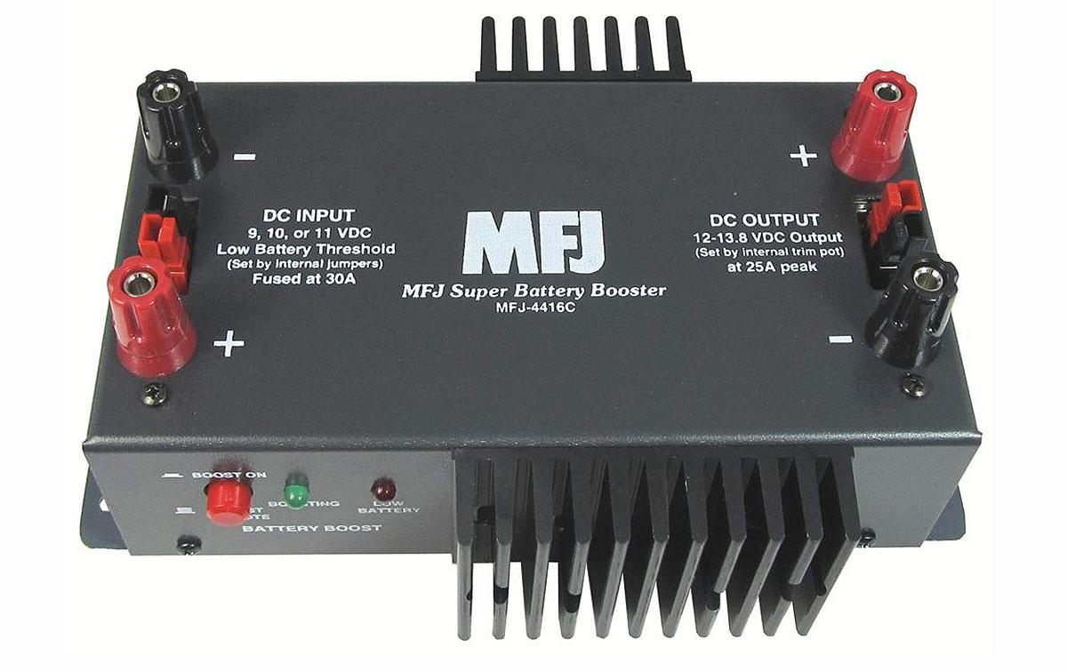 MFJ-4416C Estabilizador tensión baterias Entrada 9-13,8 v salida 13,8v