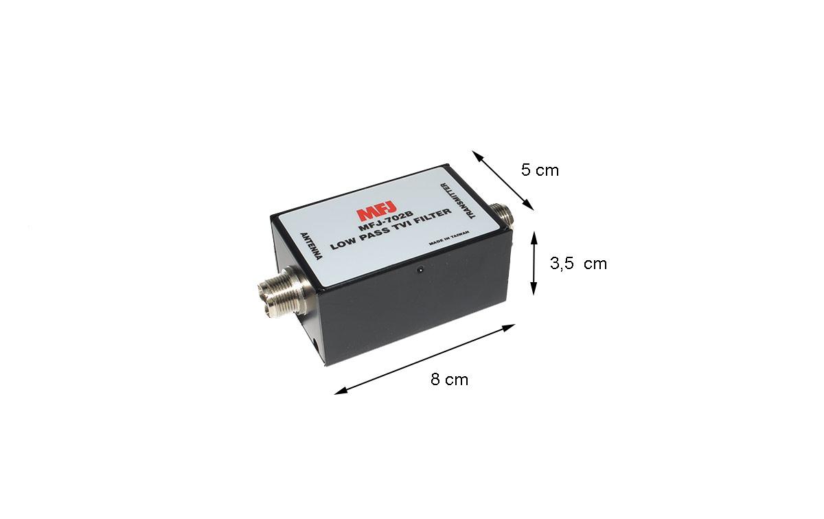 MFJ 702B Filtro Pasabajos MFJ. Frecuencia de 1 a 30 Mhz, 200 Wats