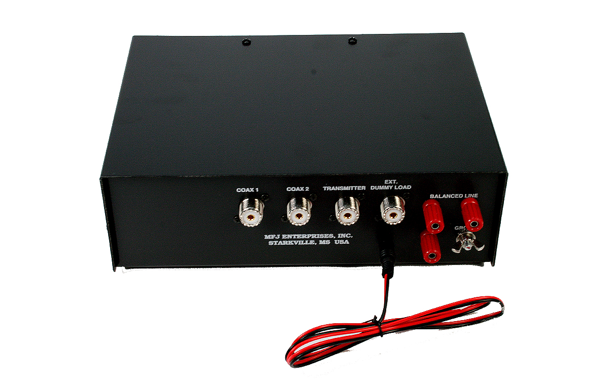 mfj 948 acoplador de antena hf 1,8- 30 mhz con vatimetro y r.o.e