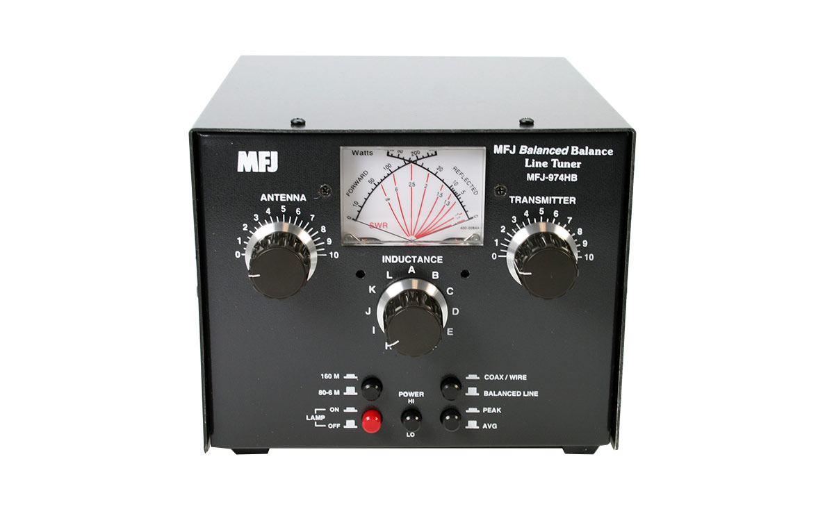 MFJ974HB Acoplador antena manual 1-8 a 54 Mhz Para Lineas Balanceadas