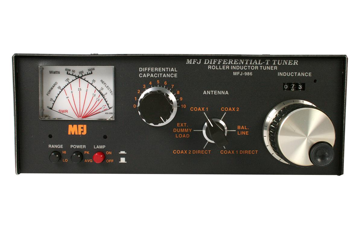 mfj986 acoplador manual potencia 3 kw, cobertura1,8-30 mhz