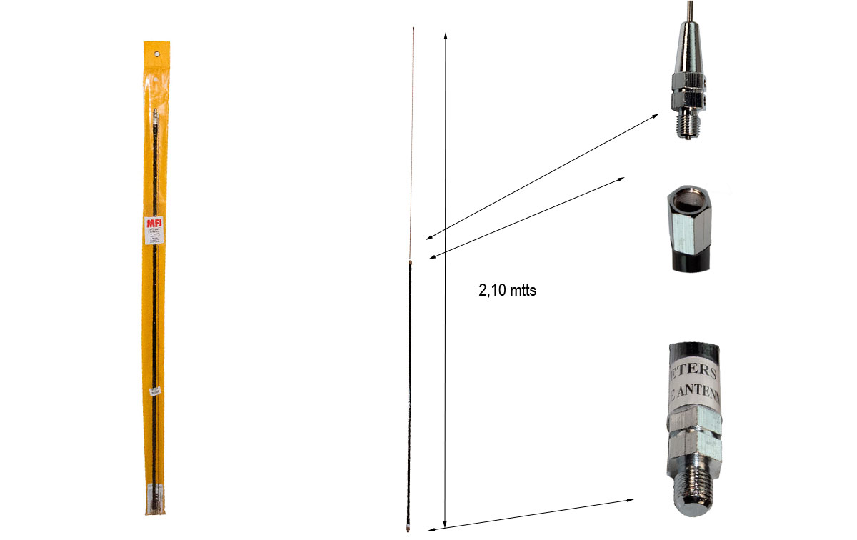 mfj-1660t antena monobanda helicolidal móvil hf para 60 metros