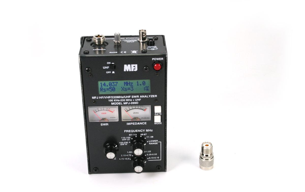 MFJ 269D Analizador de antena HF/ VHF/ UHF 0,280-230 Mhz 415-470 Mhz