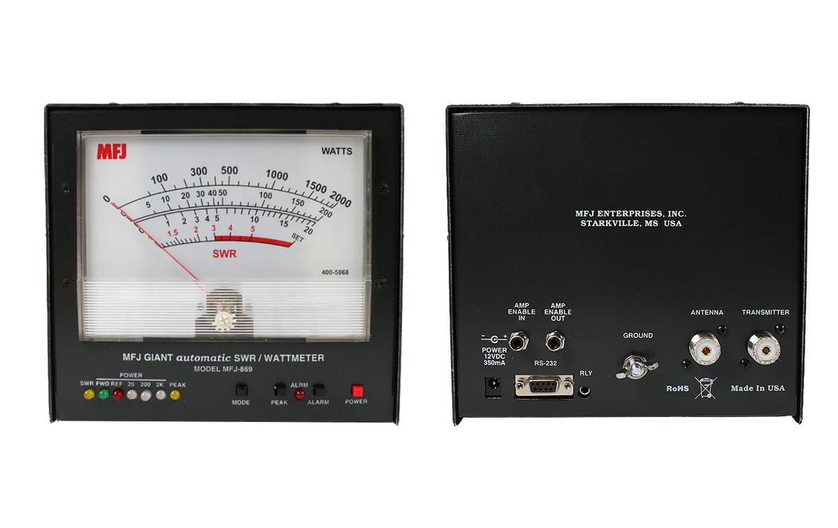 MFJ-869 Medidor estacionarias vatimetro gigante1,8- 54 Mhz Automático