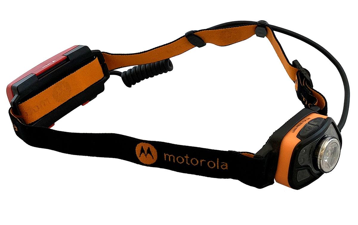 motorola mhc-250 linterna frontal 250 lumens color negro y naranja