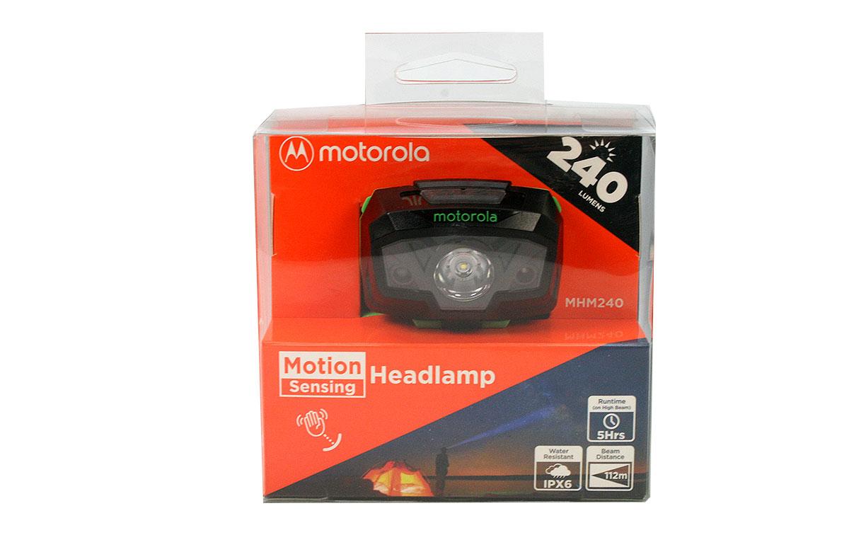 MOTOROLA MHM240 Linterna frontal 240 lumens color negro y verde