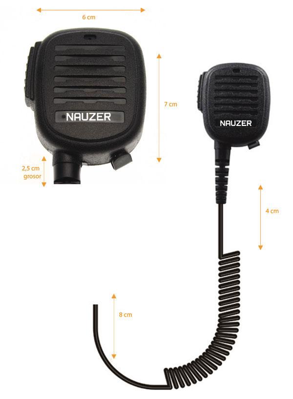 mia-120-m9 nauzer micro-altavoz para walkies motorola sl1600, sl4000, sl7550, sl1k, etc..