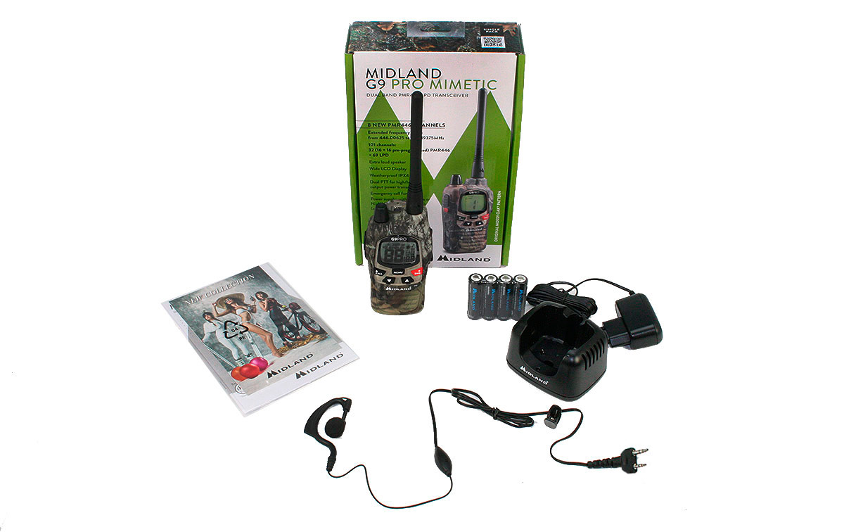 G9-PRO-MIMETIC- KIT1 walkie uso libre PMR 446 + Pinganillo PIN19S