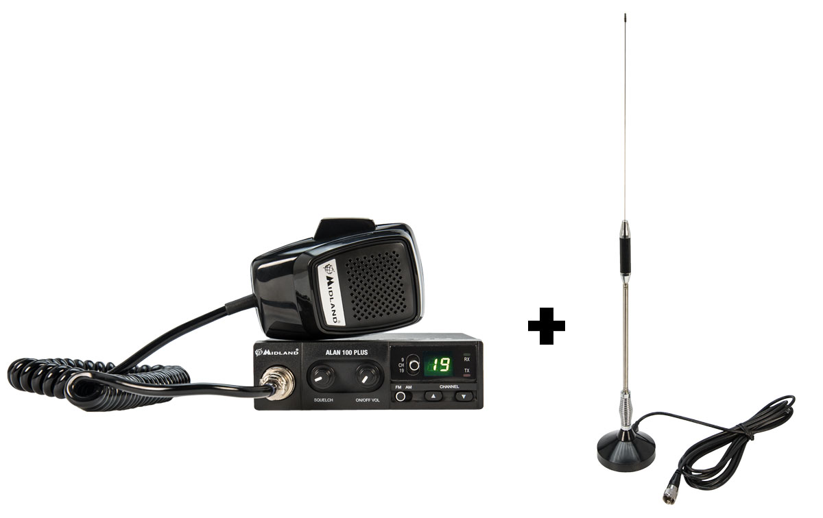 Emisora CB ALAN 100 PLUS Antena magnética