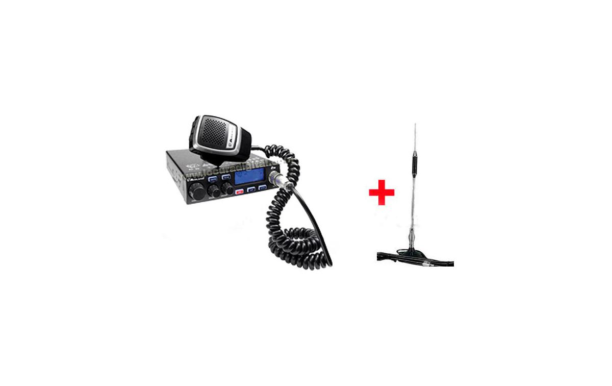 MIDLAND 278 KIT-1 Emisora CB 27 Mhz. 40 Canales AM/FM 4W CONEXION A MECHERO 12 Voltios + ANTENA MAGN