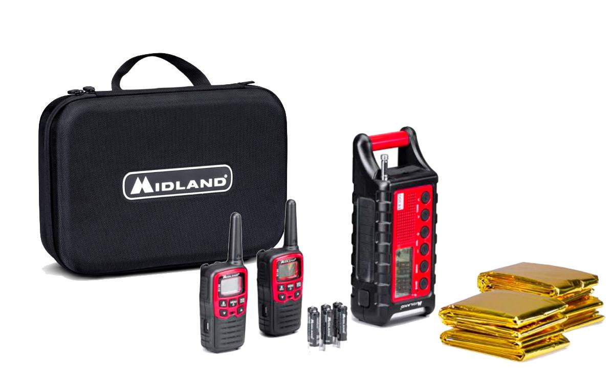 MIDLAND EK-35 Kit Emergencia 2 walkies XT-30 + 4 Mantas termicas