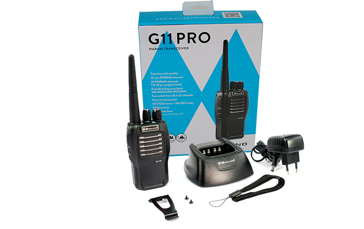 MIDLAND G11-PRO Transceptor pmr 446 uso libre profesional 16 canales