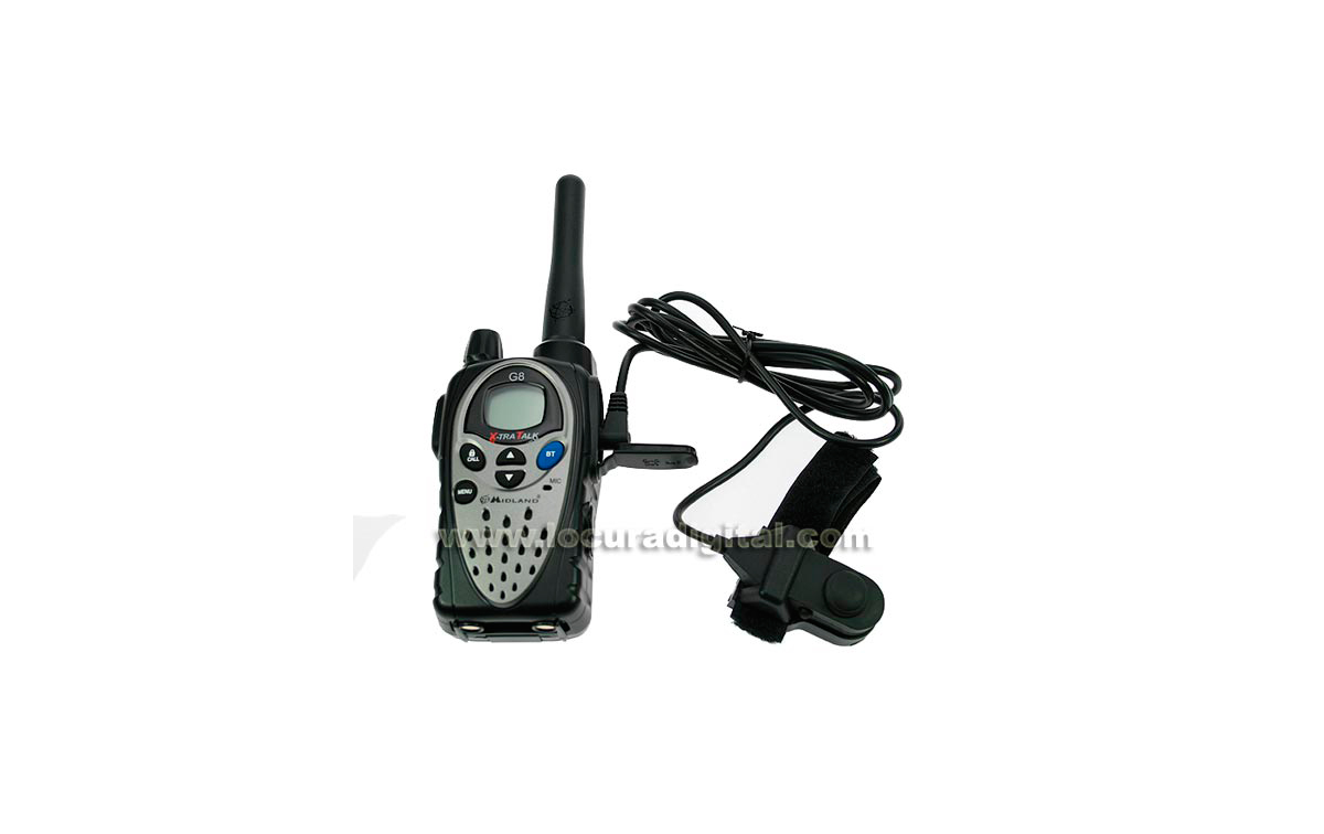 MIDLAND G8E BT Walkie talkie de uso libre PMR446 con Bluetooth