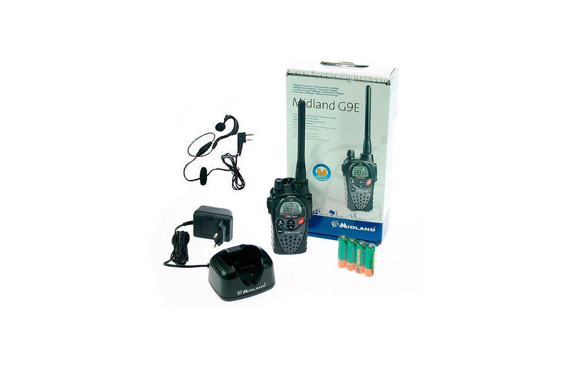 MIDLAND-G9E KIT-1 MIDLAND walkie uso libre PMR 446 !! NUEVO MODELO !!  ! REGALO DE PINGANILLO !