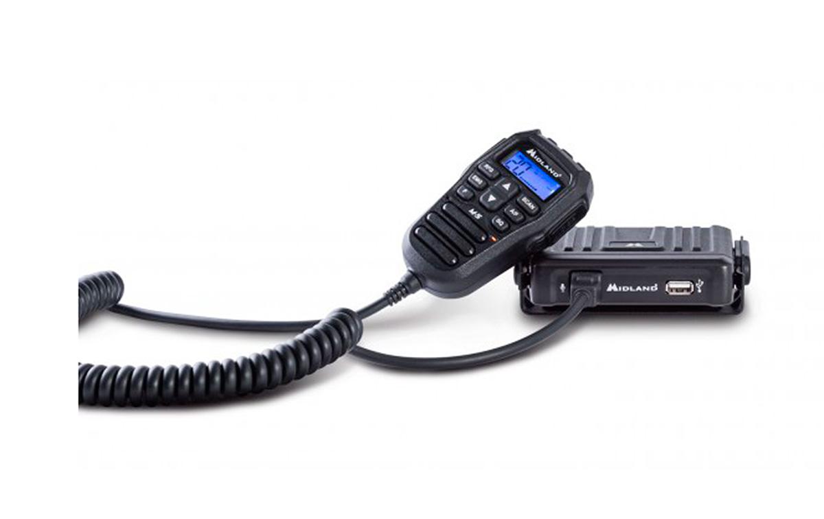 MIDLAND-M-5 Emisora CB MULTI con controles en el micrófono