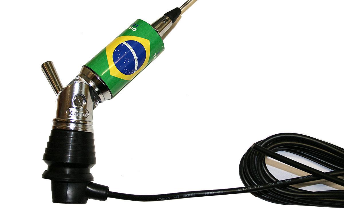 LEMM MINITURBO Brasil. Antena abatible CB 27 mhz Longitud 110 cm