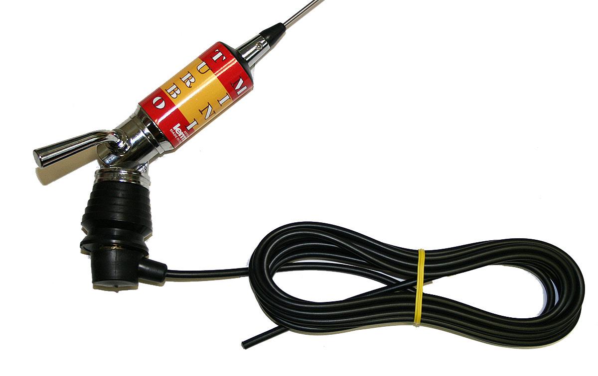 LEMM MINITURBO Bandera España Antena abatible CB 27 Longitud 110 cm