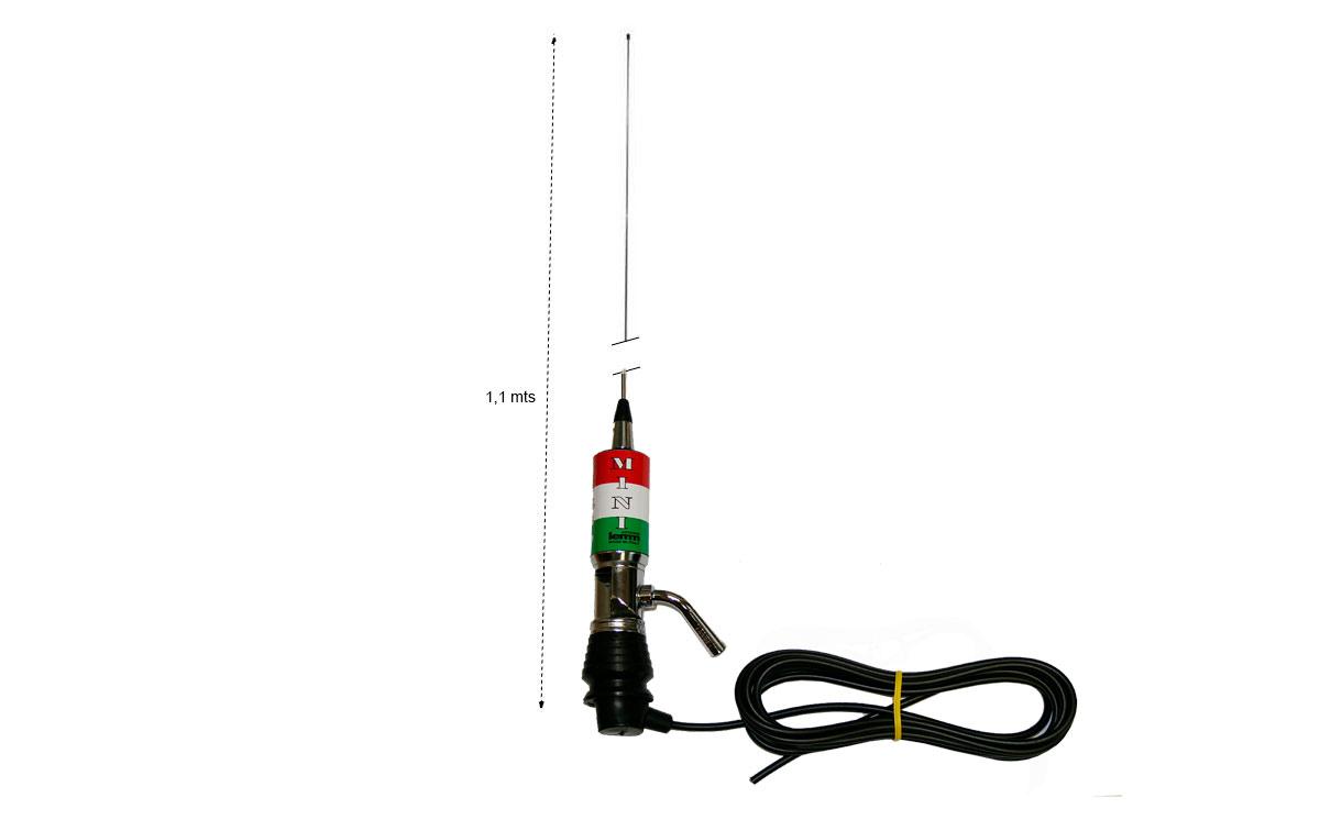 LEMM MINITURBO Italia. Antena abatible CB 27 mhz Longitud 110 cm