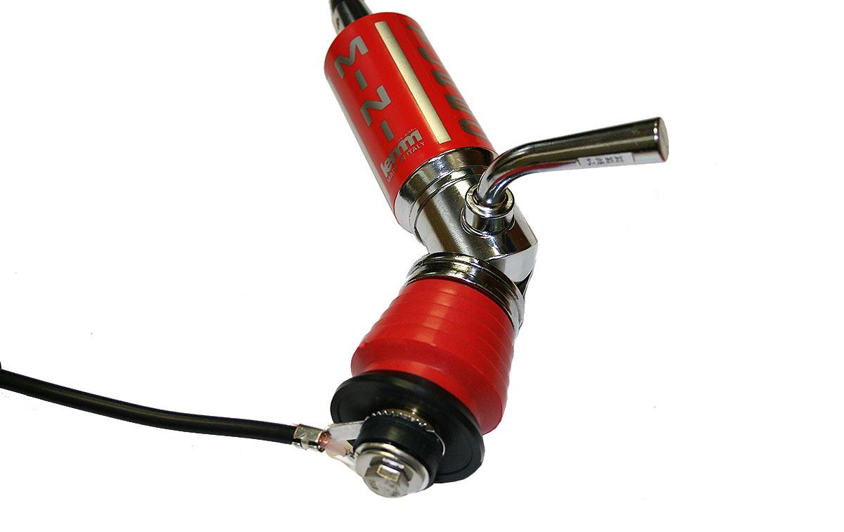 LEMM MINITURBO color ROJA. Antena abatible CB 27 mhz Longitud 110 cm