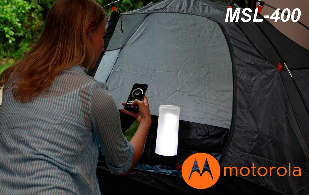 MOTOROLA MSL-400 Linterna 400 lumens tipo farola con Bluetooth