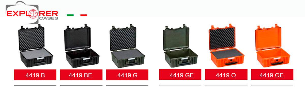 4419G Maleta Explorer verde con espuma Interior- L 445 x A 345 x P 190 mm, Maleta de proteccion indestructible de polipropileno ideal para proteger equipos fde radiocomunicacion, fotografia etc., con compartimentos interiores acolchado personalizables. Correa de hombro opcional.