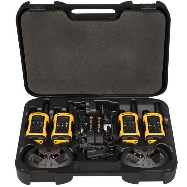 motorola tlkr t80 extreme quad walkie uso libre. maleta 4 unidades