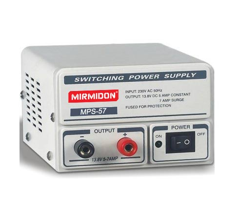 mirmidon mps-57 switching power supply. 13,8 volts. 5 / 7 amps.