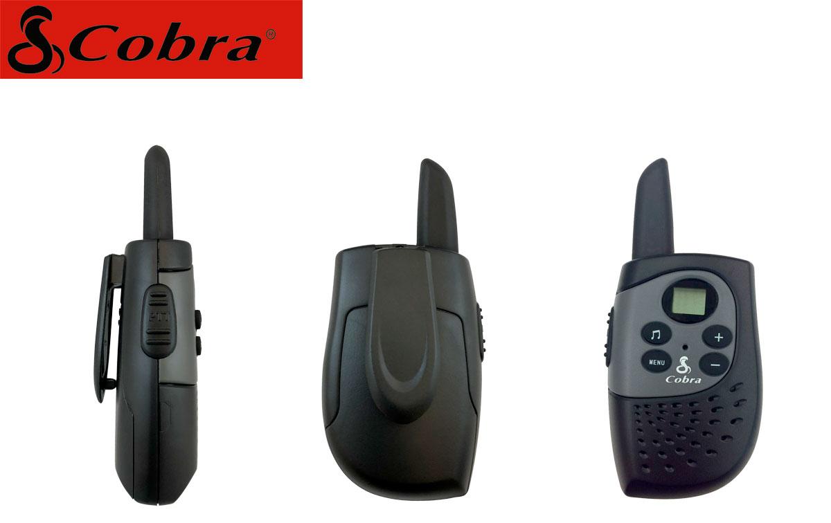 COBRA MT-148K Pareja de walkies PMR uso libre color negro alcance 3 km